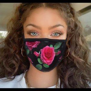 Rose flower face mask